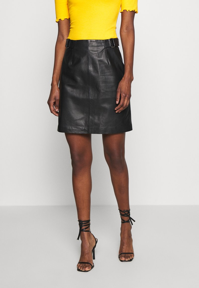 Selected Femme Tall - SLFSABINE SKIRT - A-line skjørt - black