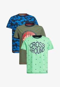 WE Fashion - 3-PACK - Print T-shirt - multi-coloured - 0