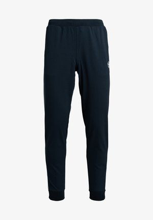 YOUNG LINE - Tracksuit bottoms - navy/white