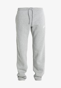 Nike Sportswear - CLUB CUFFED PANT - Tracksuit bottoms - dark grey heather/white - 4