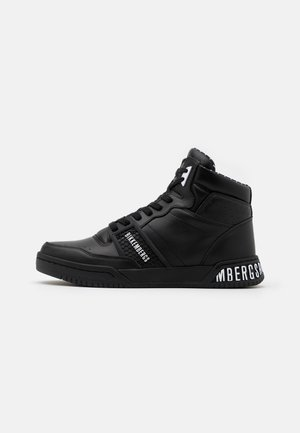 SIGGER - Sneakersy wysokie - black/white