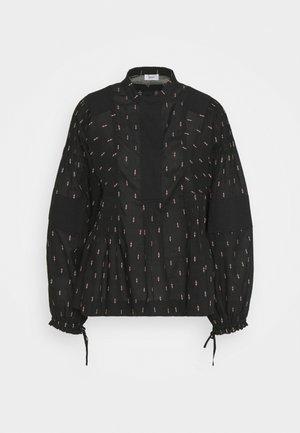 HARLOW - Button-down blouse - black