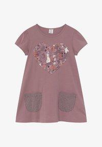 Lindex - MINI LONGSWEET PATCH - Žerzejové šaty - dusty lilac - 3