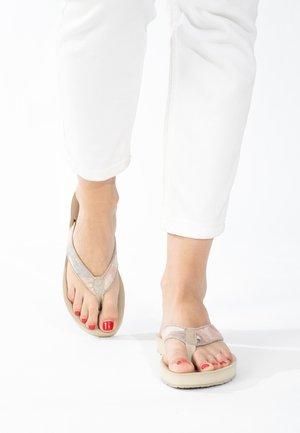 HEDY - T-bar sandals - tan