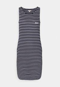 DALMORE STRIPE DRESS - Sukienka z dżerseju - navy/white