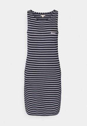 DALMORE STRIPE DRESS - Jersey dress - navy/white