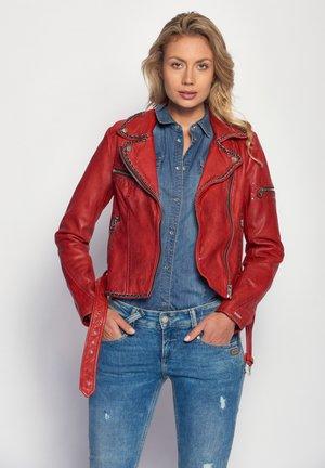 ROCKIG SPICER - Leather jacket - red