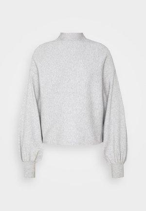 VMNANCY BALLOON FUNNECK - Jumper - light grey melange