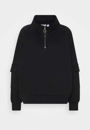 NMHELENE ZIP - Sweatshirt - black