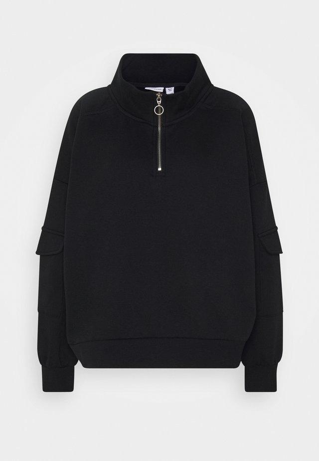 NMHELENE ZIP - Sweatshirt - black