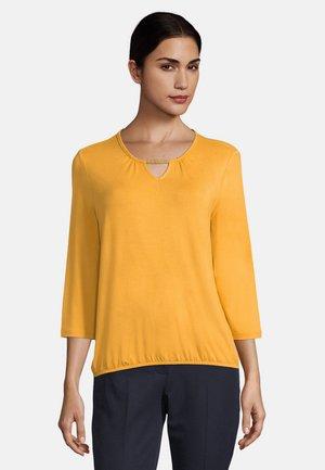 MIT PERLEN - Long sleeved top - yellow