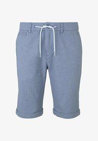 TOM TAILOR DENIM - Shorts - blue white dobby - 6