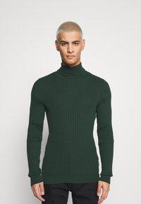 Zign - Stickad tröja - dark green - 0
