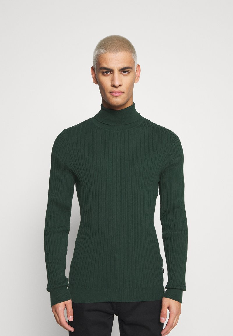 Zign - Stickad tröja - dark green