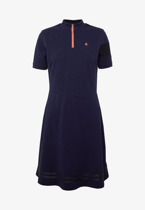 CERGY ZIP SLIM - Day dress - sarto blue/milk/orange