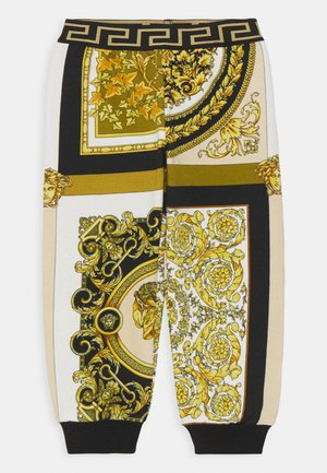 BAROQUE MOSAIC KIDS UNISEX - Trousers - white/gold