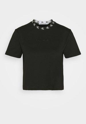 LOGO TRIM TEE - T-shirt z nadrukiem - ck black