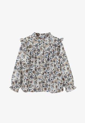 MADSCHEN VOLANTBLUSE - Button-down blouse - beige bedruckt