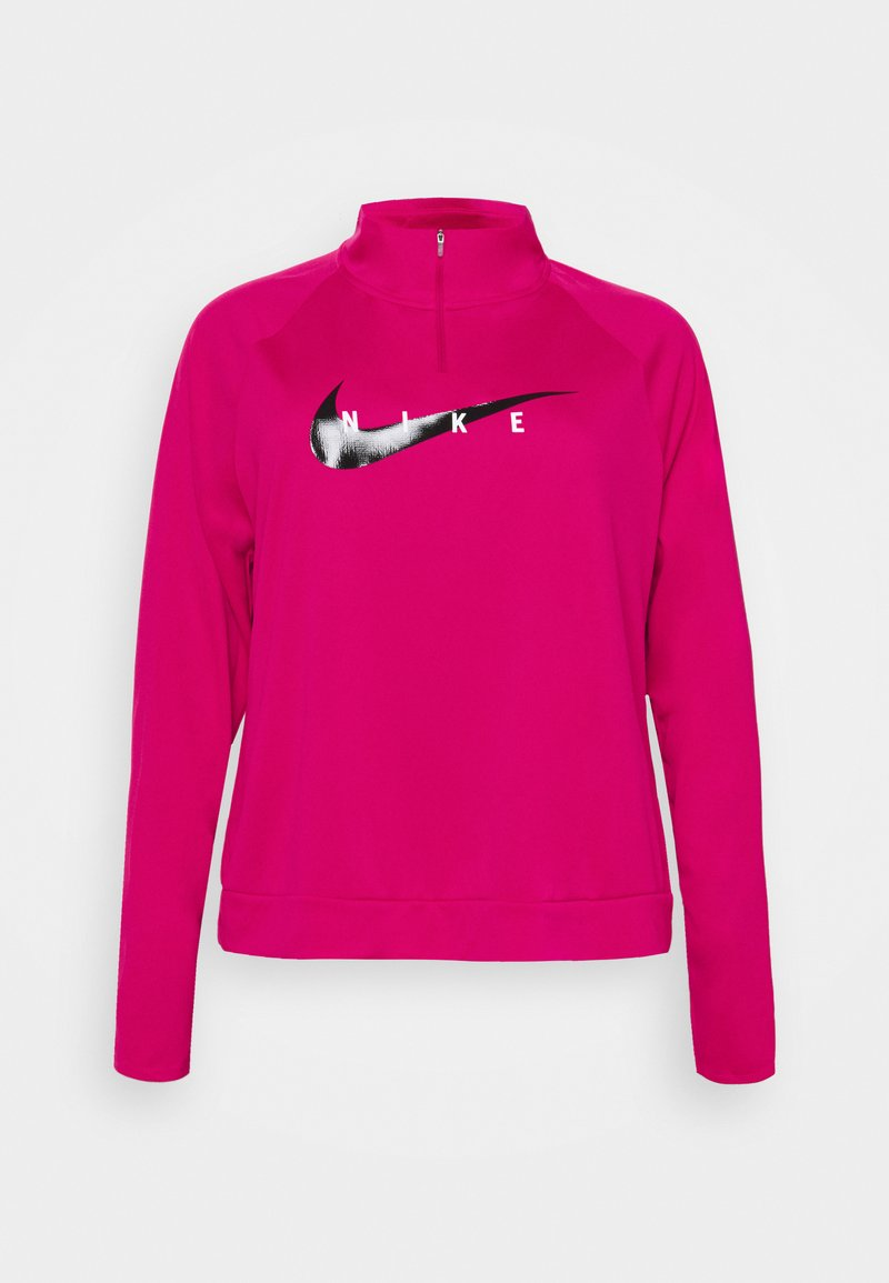 Nike Performance - RUN MIDLAYER PLUS - Sports shirt - fireberry/black