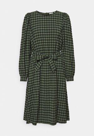 DRESS LONGSLEEVE SHELL FABRIC BELT - Sukienka letnia - olivia gray