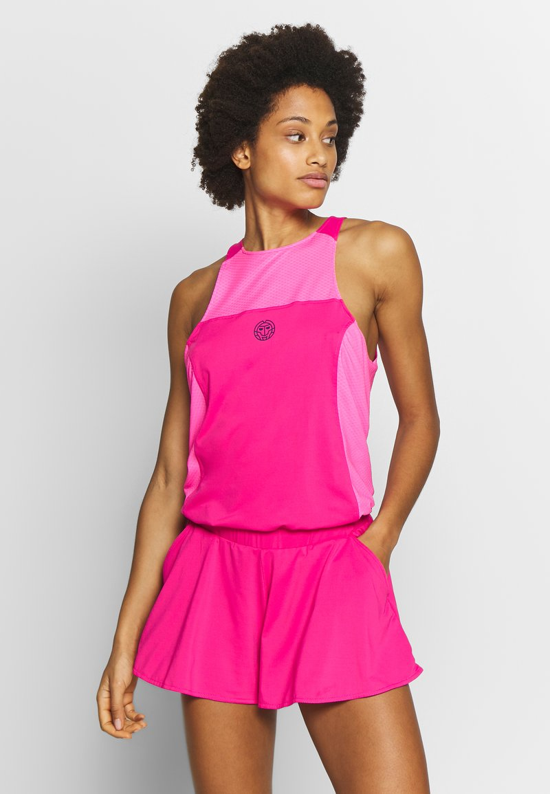 BIDI BADU - TECH JUMPSUIT 3-IN-1 - Verryttelypuku - pink/dark blue
