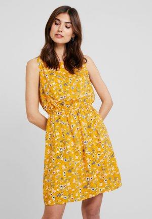 ALL OVER PRINTED MINI DRESS - Freizeitkleid - yellow