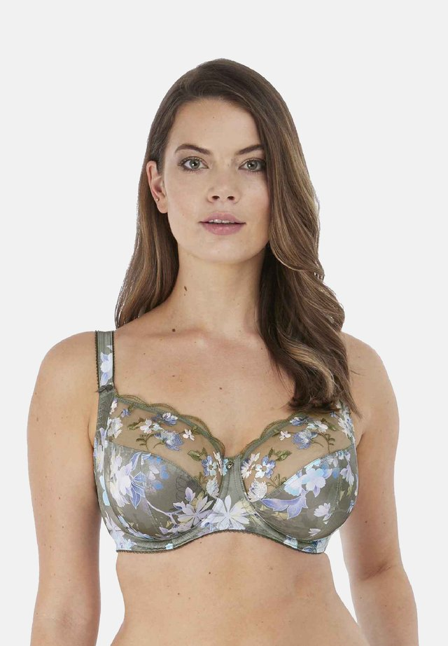 Underwired bra - evergreen