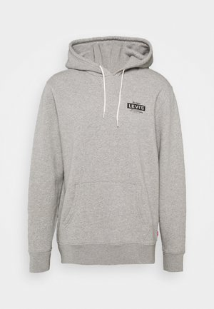 GRAPHIC HOODIE - Sweatshirt - mottled grey