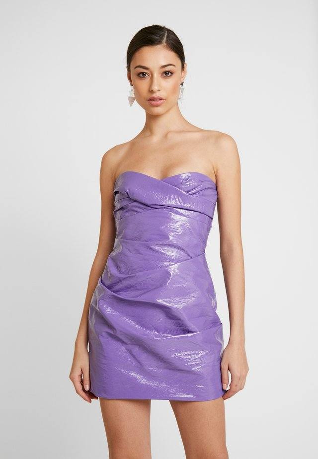 WAX ON MINI DRESS - Vestito estivo - purple