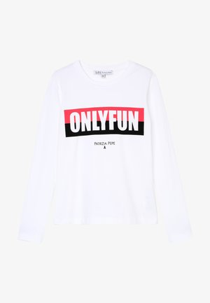 ONLYFUN - Long sleeved top - bianco