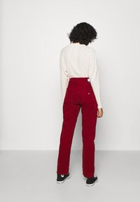 Tommy Jeans - HARPER STRAIGHT ANKLE - Trousers - wine red - 2