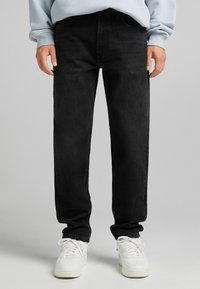 Bershka - STRAIGHT VINTAGE - Jeans relaxed fit - black - 0