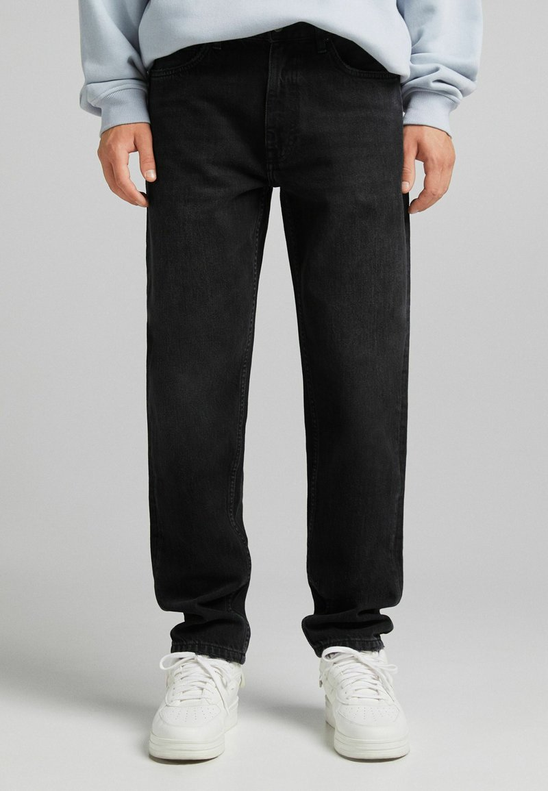 Bershka - STRAIGHT VINTAGE - Jeans relaxed fit - black