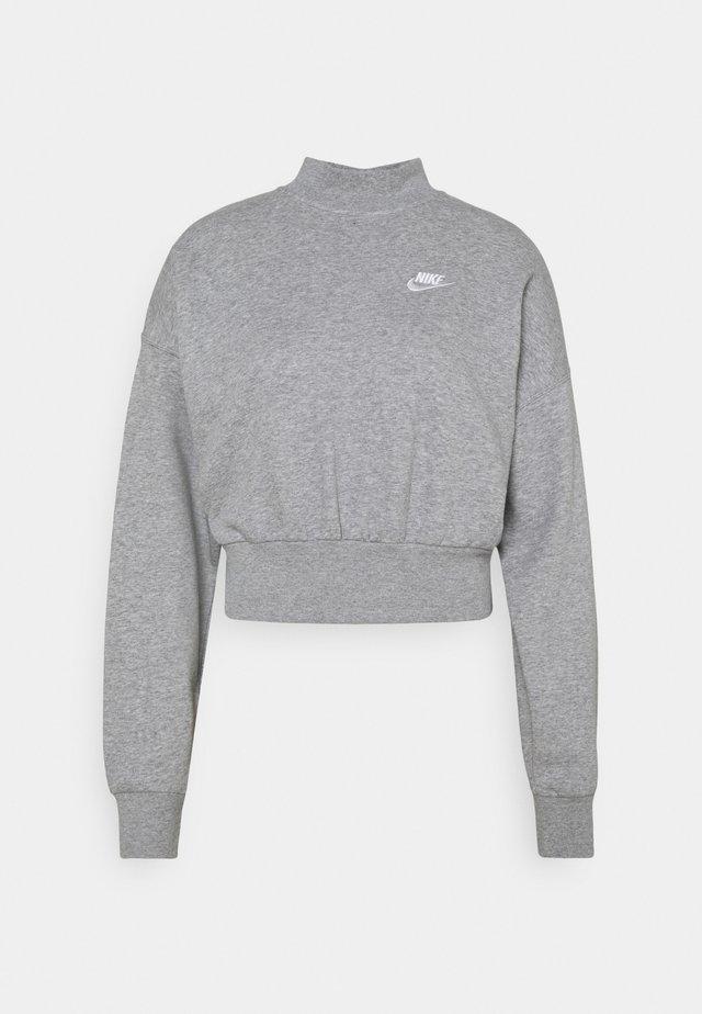 MOCK - Sweatshirt - grey heather/white
