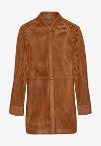 Uterqüe - Leather jacket - brown - 5