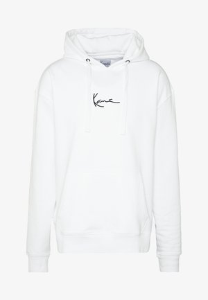 SIGNATURE HOODIE - Bluza z kapturem - white/black