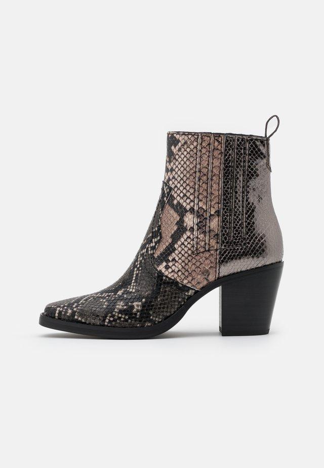 GENIVA - Classic ankle boots - metallic multicolor