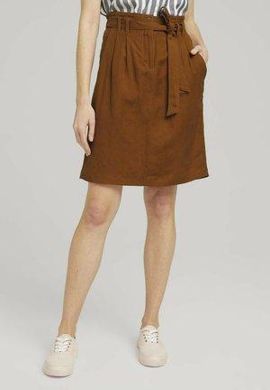A-lijn rok - caramel brown