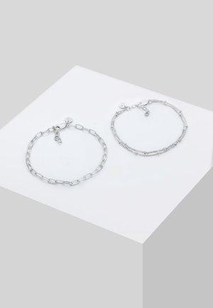 2ER SET LAYER - Bracelet - silber