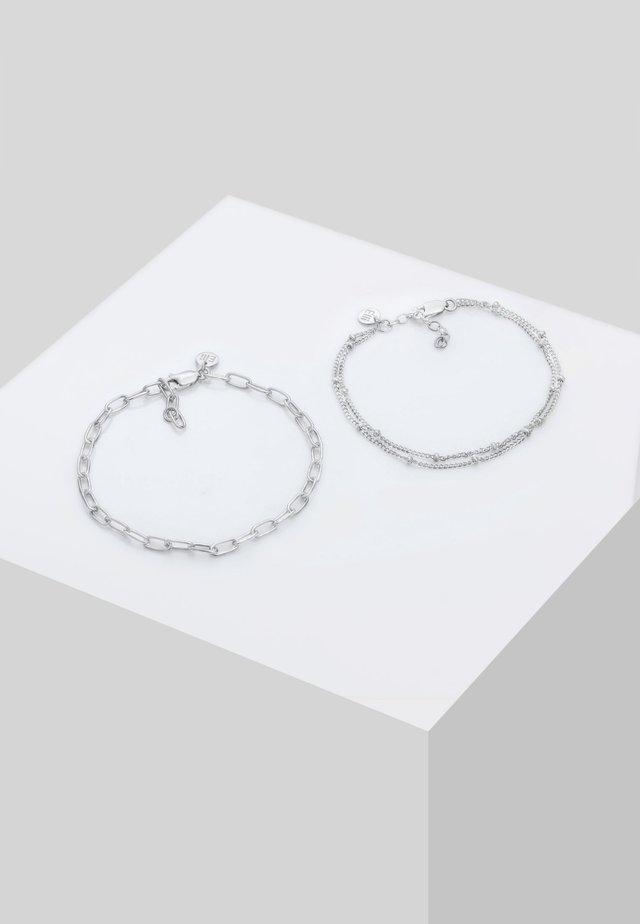 2ER SET LAYER - Armband - silber