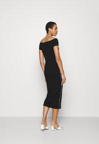 Calvin Klein - BARDOT PIPING DRESS - Maxi-jurk - black - 2