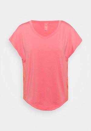 ONPJENSA CURVED TRAIN TEE - Camiseta estampada - tea rose