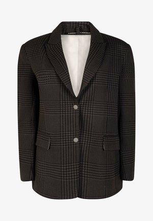 CHECKED - Blazer - almost black