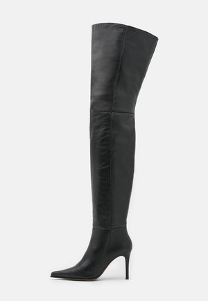 TIA THIGH POINT BOOT - Muszkieterki - black