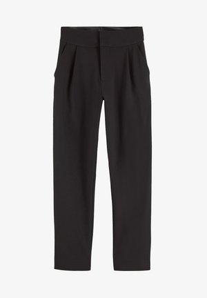 MIT BUNDFALTE - Trousers - schwarz