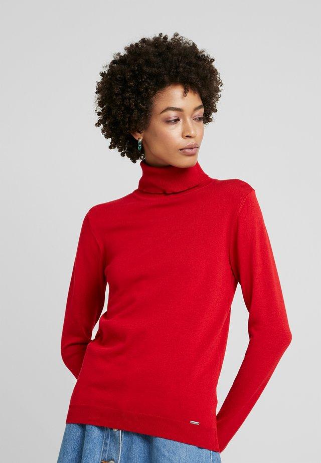 Sweter - granate red