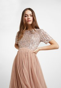 Lace & Beads Petite - VAL SKIRT - A-Linien-Rock - mink - 3