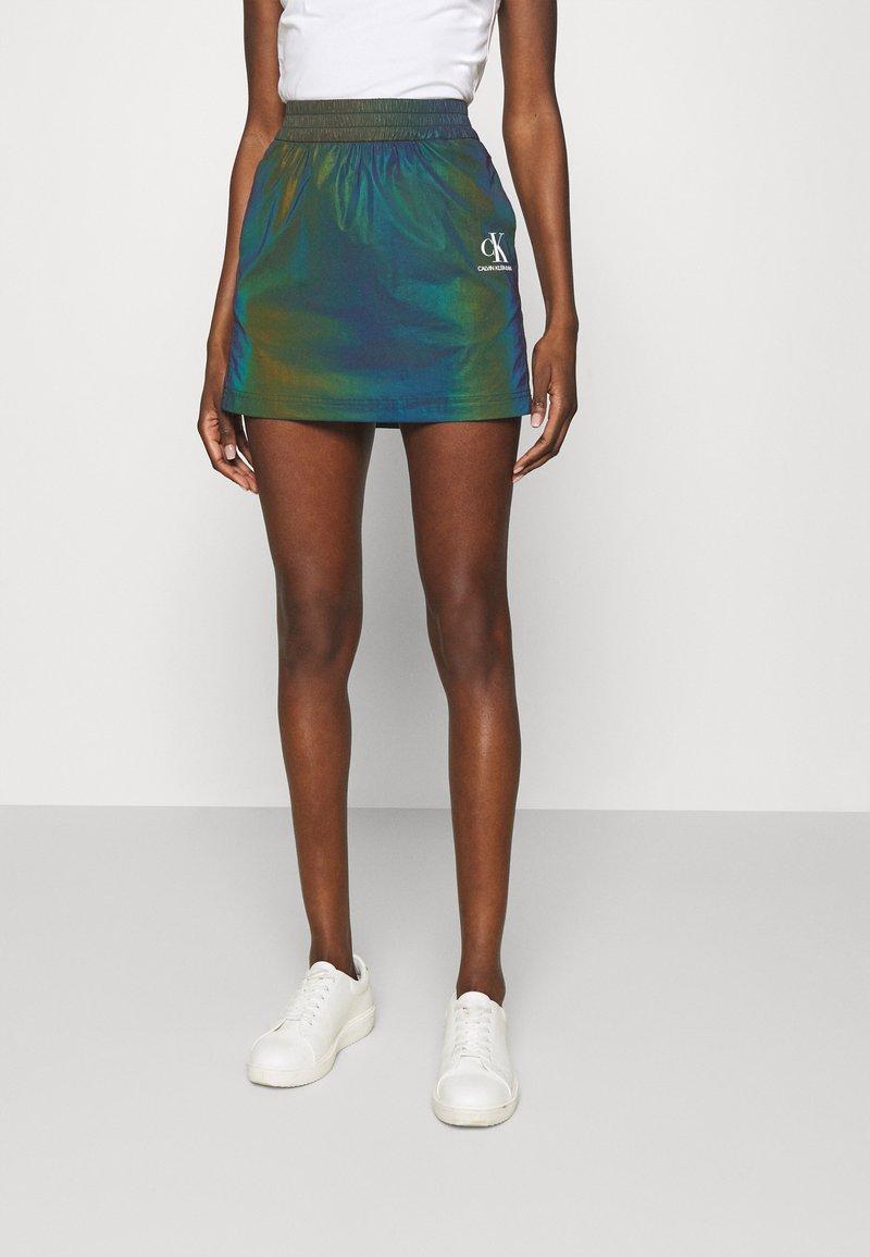 Calvin Klein Jeans - REFLECTIVE MINI SKIRT - Mini skirt - multi-coloured