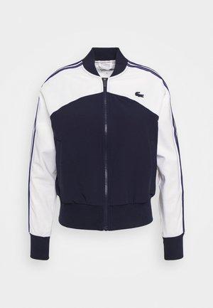 TENNIS - Giacca sportiva - weiß/navy blau