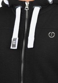 Solid - BenjaminZip Pile - Zip-up hoodie - black pil - 2